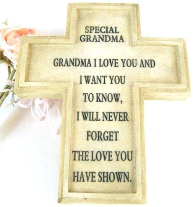 Grandma Memorial Cross Plaque