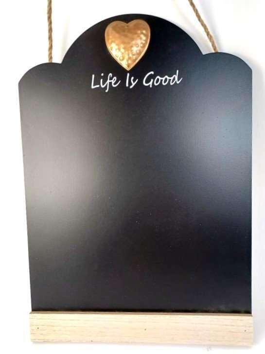 Blackboard Gold metal Heart